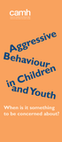Aggressive Behaviour in Children and Youth