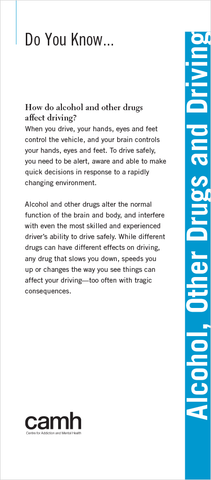 Do You Know… Alcohol, Other Drugs and Driving|Vous connaissez… la conduite avec facultés affaiblies