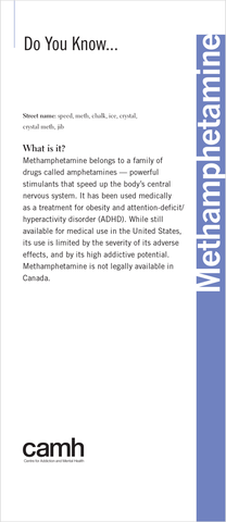 Do You Know… Methamphetamine|Vous connaissez… la méthamphétamine