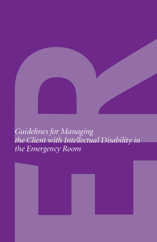 Guidelines for Managing Patients with Intellectual Disability in the Emergency Room