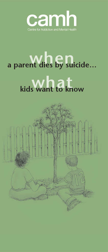 When A Parent Dies By Suicide What Kids Want To Know