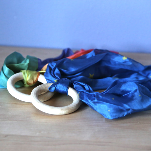 Silk and Wood Teethers