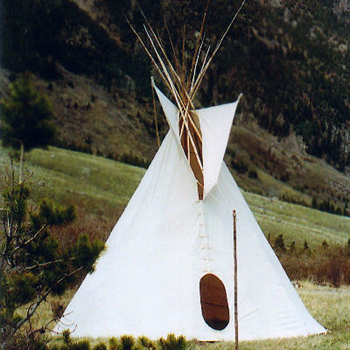 natural canvas sioux tipi tipi construction kit build a tipi kit teepee imagine childhood. Black Bedroom Furniture Sets. Home Design Ideas