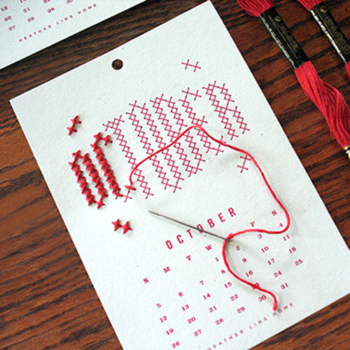 A Year in Stitches Calendar Kit