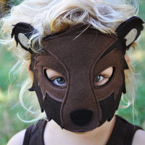 Handmade Bear Eco-Felt Mask & Tail