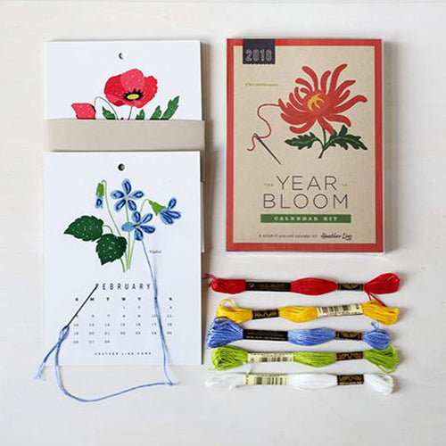2018 The Year in Bloom Calendar Kit