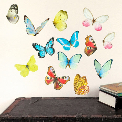 Colorful Butterfly Wall Decal