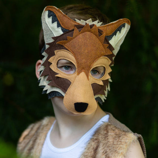 Handmade Coyote Eco-Felt Mask & Tail
