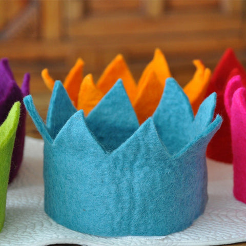 Colorful Felt Crowns