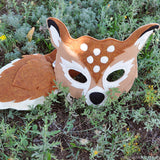 Handmade Fawn Eco-Felt Mask & Tail