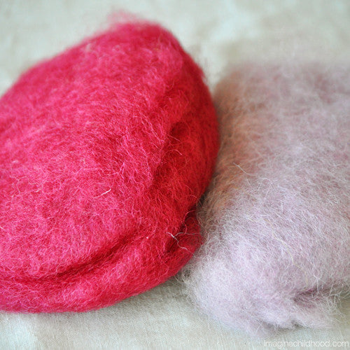 Plant Dyed Felting Wool