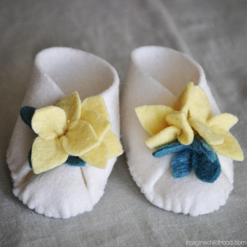 DIY Baby Booties Kit Forsythia