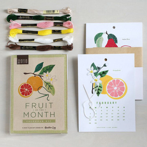 2017 Fruit of the Month Calendar Kit