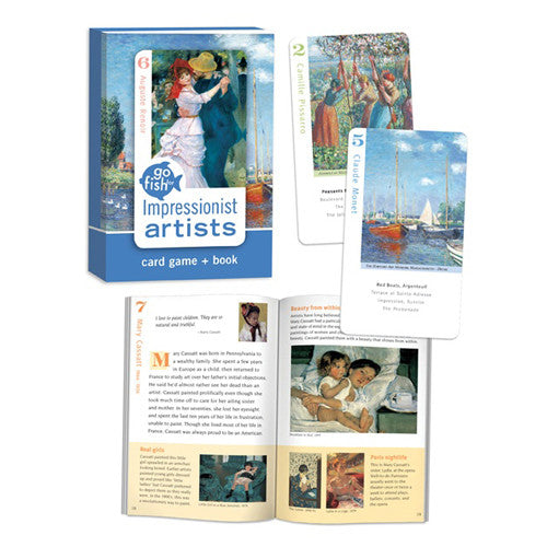 Go Fish for Impressionit Artists Card Game & Book