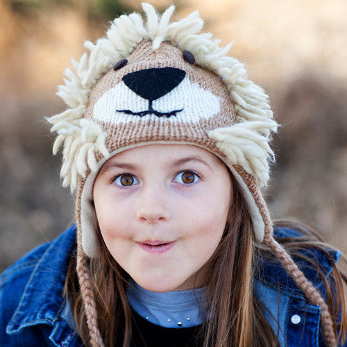Fair Trade Wool Lion Hats and Mittens