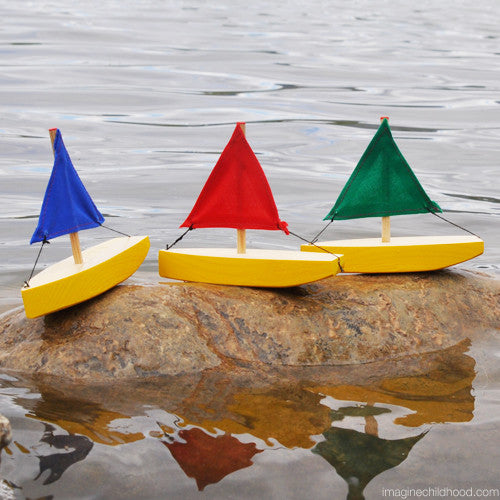 Mini Yellow Sailboat Set