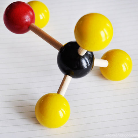 Wooden Molecule Set