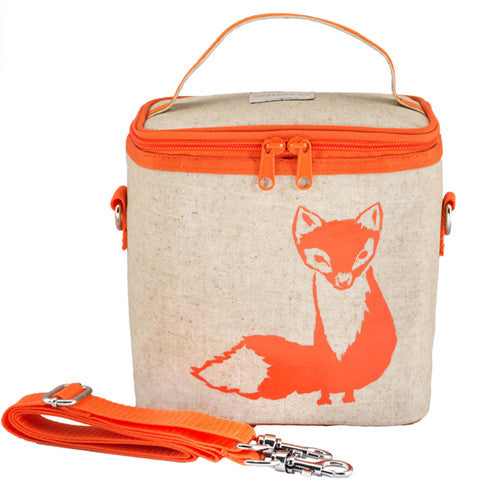 Orange Fox Cooler Lunch Bag