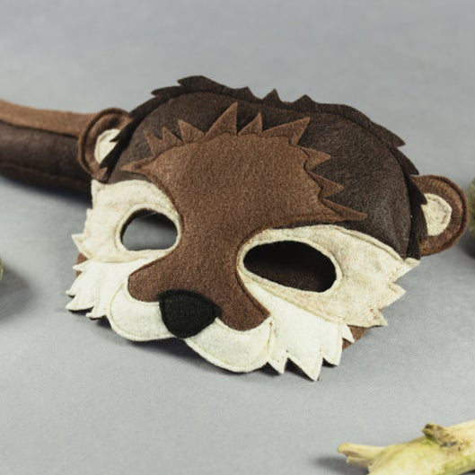 Handmade Otter Eco-Felt Mask & Tail