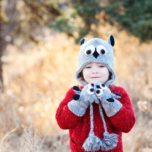 Fair Trade Wool Owl Hats & Mittens