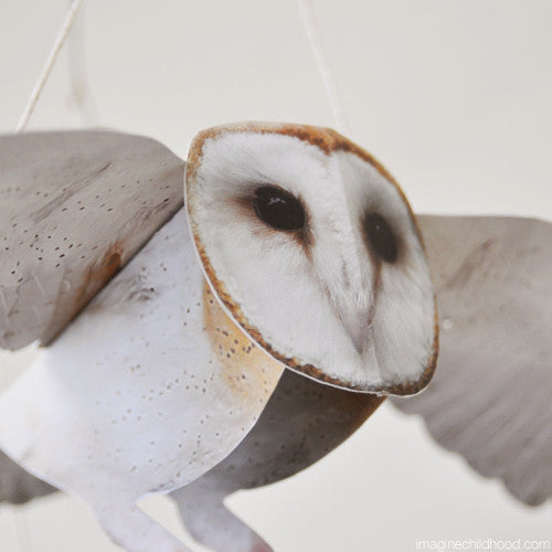 Flying Barn Owl Mobile Kit