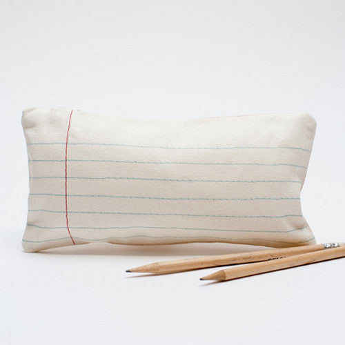 "Lined ""Paper"" Pencil Case"
