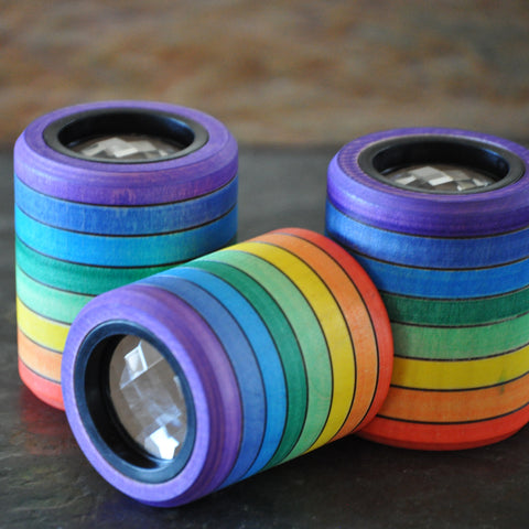 Rainbow Wooden Kaleidoscope