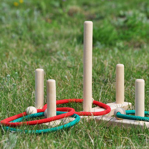 Natural Maple Ring Toss Game