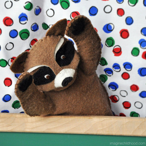 DIY Raccoon Hand Puppet Kit