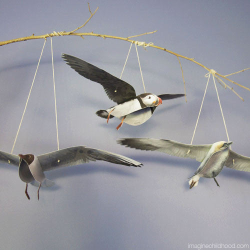 Flying Sea Birds Mobile