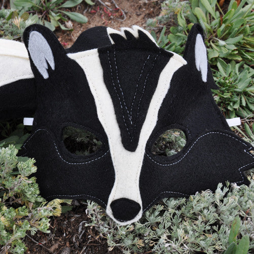 Handmade Skunk Eco-Felt Mask & Tail