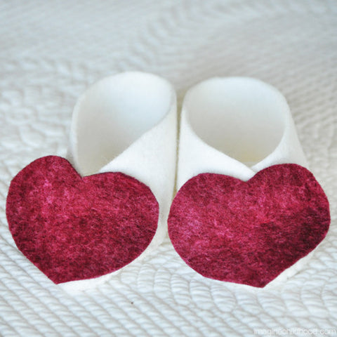 DIY Baby Booties Hearts