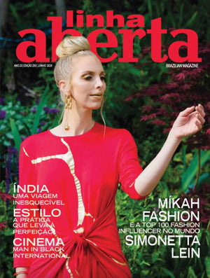 Mikah Fashion Makes the Cover of Linha Aberta
