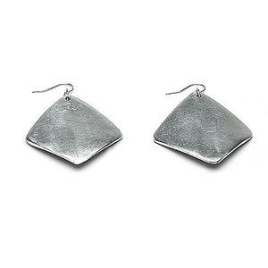Carre Pile Pm - Small diamond shape earrings