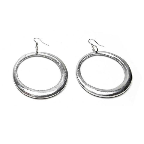 Demi Ronde Bombee - 3 dimensional oversized circular shaped earrings