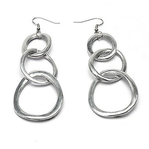 3 Ovale Chaine - Light and dangling aluminum chain earrings