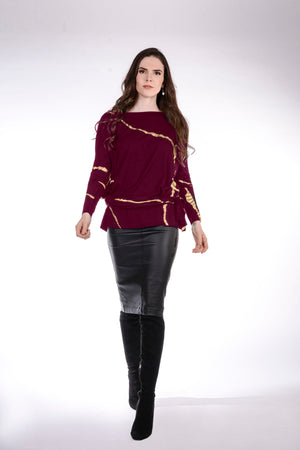 FW 20 Kana top -  Long Sleeves, Jewel Neck