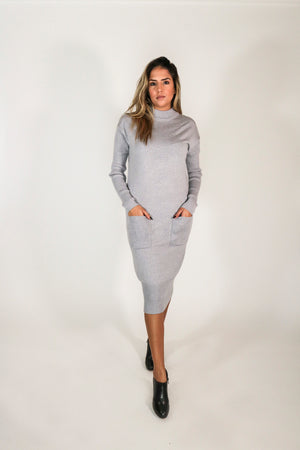 Angelica Sweater Dress with Pockets