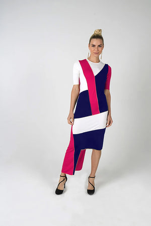 Aya Geometric Dress - Kintsugi Collection