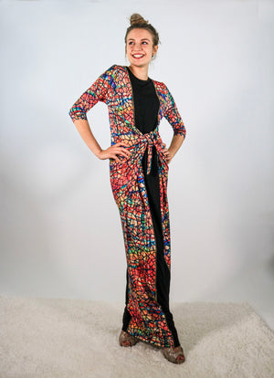Maxi Boho with Center Panel in Watercolor Black Mosaic