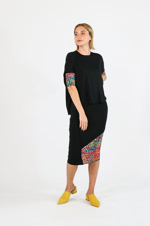 Hana Top Black Watercolor - Mosaic Collection