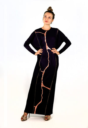 Misa Maxi Black Rose gold