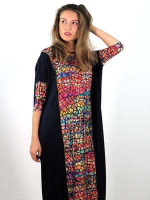 Misa Black Watercolor Mosaic Maxi