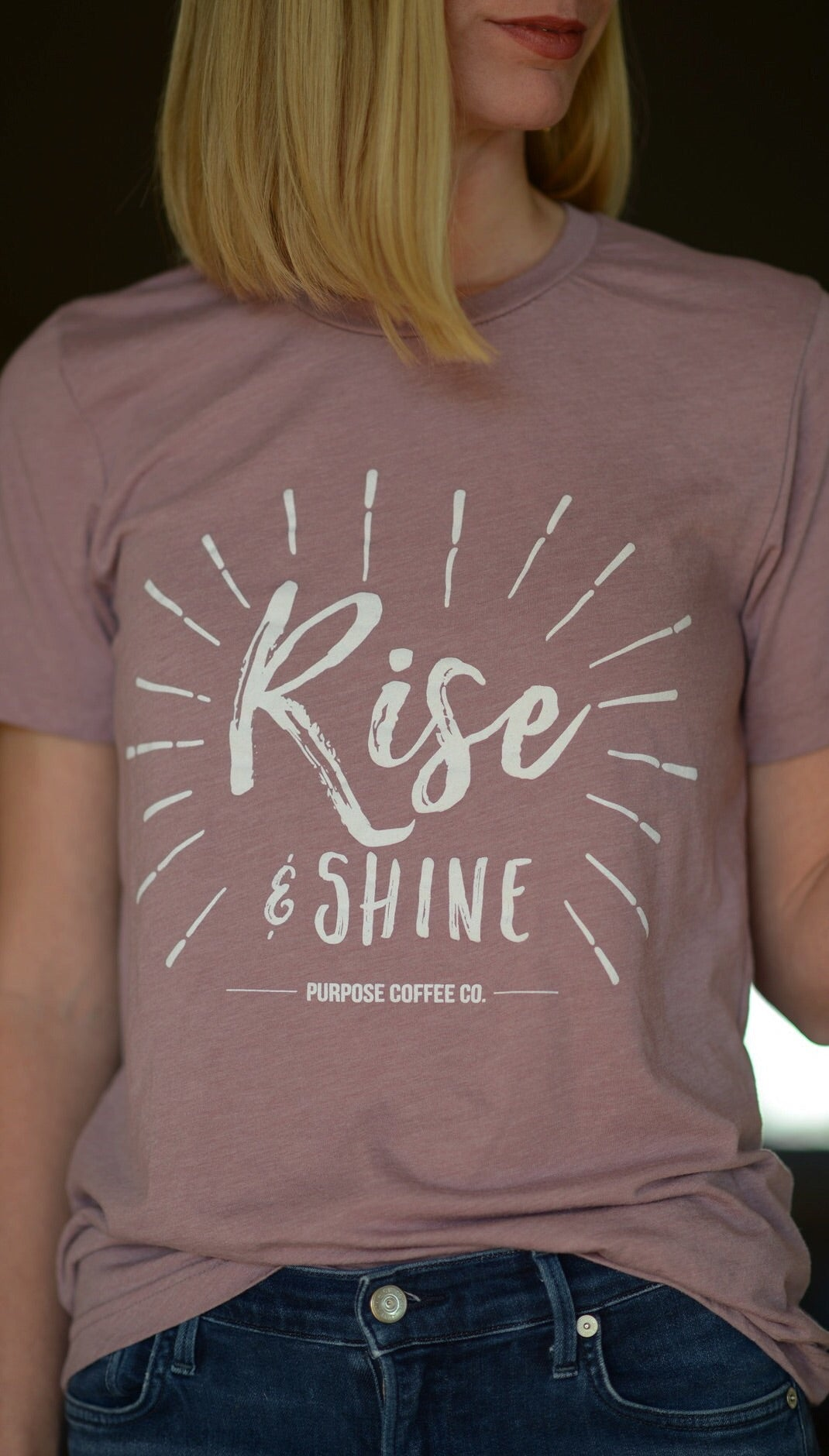 Rise & Shine Tee - Orchid