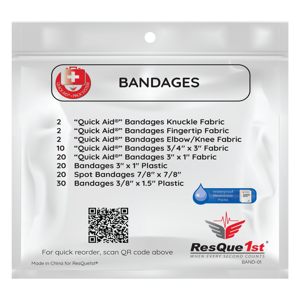 Quick Aid® Large Bandages Refill Pack