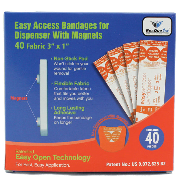 "ResQue1st Magnetic ""Quick Aid"" Bandage Dispenser with Refill"