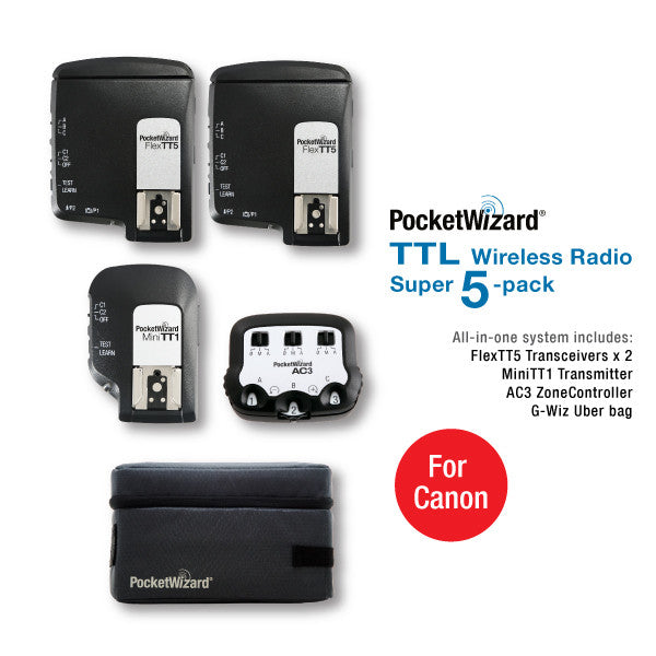 TTL Wireless Radio Super 5-Pack for Canon