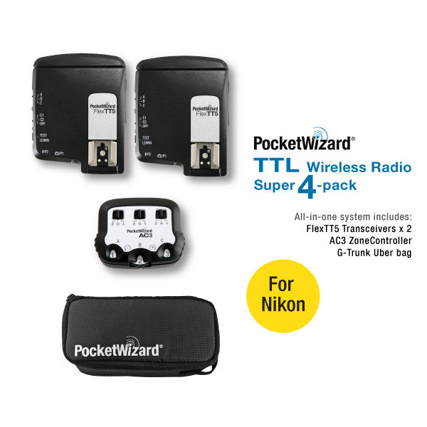 TTL Wireless Radio Super 4-Pack for Nikon