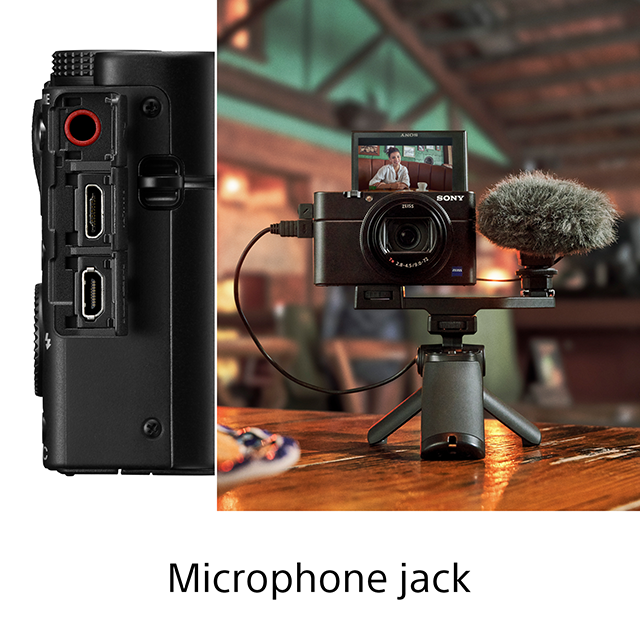 Microphone jack for Sony RX100 VII