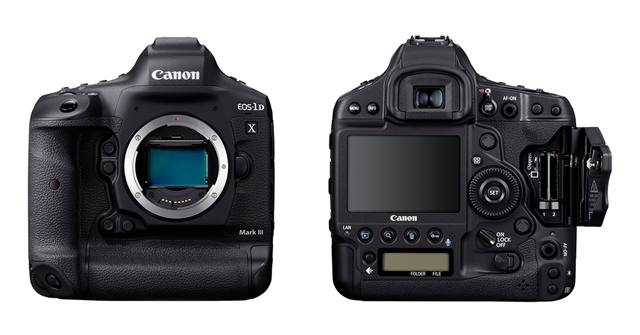 canon 1d x mark iii front and back view